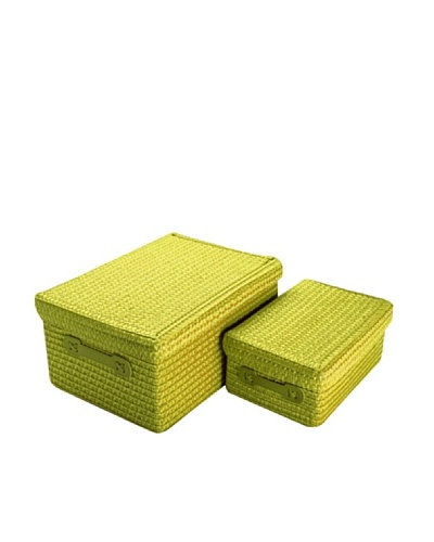 Zings Set de 2 cajas rectangulares verdes