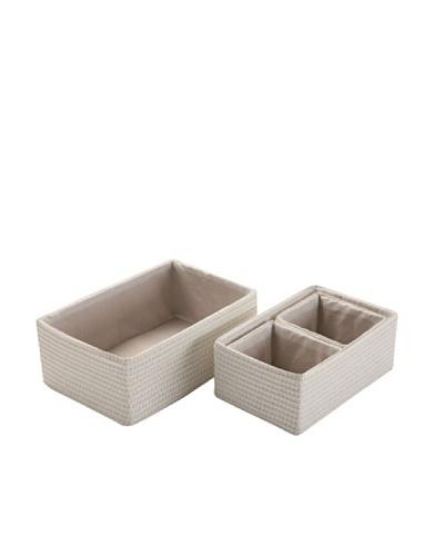 Zings Set de 4 cajas rectangulares blancas