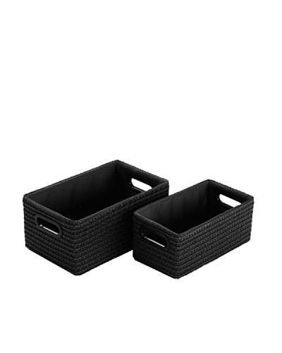 Zings Set De 2 Cajas Rectangulares Negras