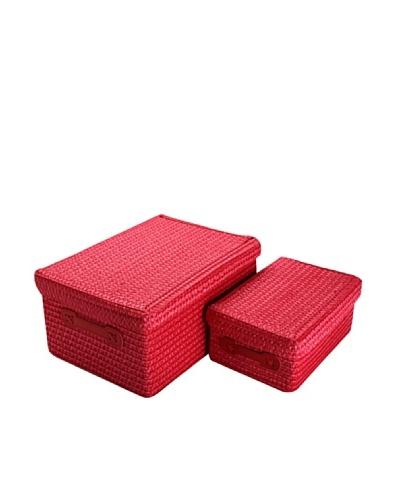 Zings Set De 2 Cajas Rectangulares Rojas