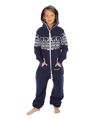 ZIPUPS Pijama-Mono Junior Reindeer Azul Oscuro