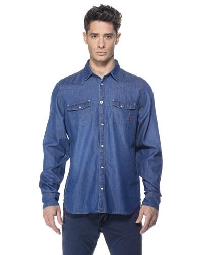 Zu-Elements Camisa vaquera Stipe-Bis Azul